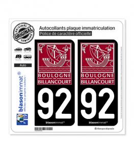 92 Boulogne-Billancourt - Ville | Autocollant plaque immatriculation