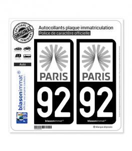 92 Ile-de-France - Tourisme | Autocollant plaque immatriculation