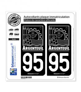 95 Argenteuil - Ville | Autocollant plaque immatriculation