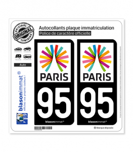95 Ile-de-France - Paris Région | Autocollant plaque immatriculation