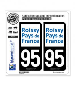 95 Sarcelles - Agglo | Autocollant plaque immatriculation