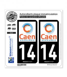 14 Caen - Agglo | Autocollant plaque immatriculation