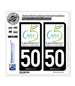 50 Coutances - Agglo | Autocollant plaque immatriculation