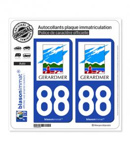 88 Gérardmer - Ville | Autocollant plaque immatriculation