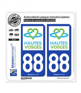 88 Hautes-Vosges - Tourisme | Autocollant plaque immatriculation