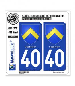 40 Capbreton - Armoiries | Autocollant plaque immatriculation