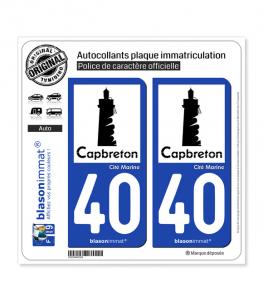 40 Capbreton - Ville | Autocollant plaque immatriculation