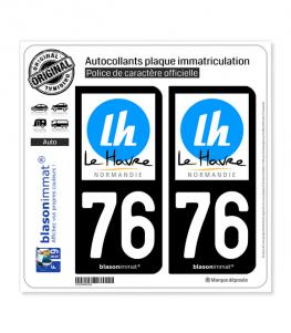76 Le Havre - Tourisme | Autocollant plaque immatriculation