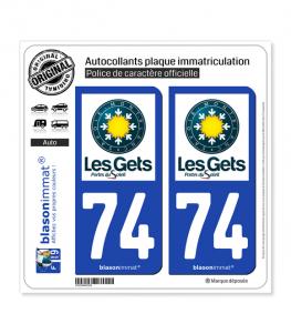 74 Les Gets - Station   Autocollant plaque immatriculation