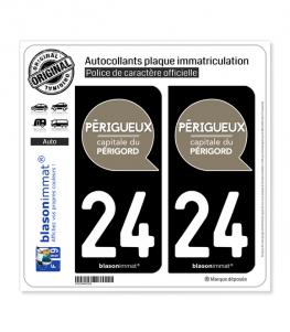 24 Périgueux - Ville | Autocollant plaque immatriculation