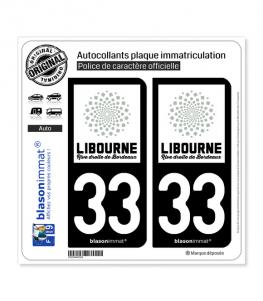 33 Libourne - Agglo | Autocollant plaque immatriculation