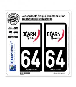 64 Béarn - Tourisme | Autocollant plaque immatriculation