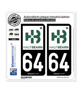 64 Oloron-Sainte-Marie - Agglo | Autocollant plaque immatriculation