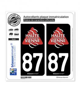 87 Haute-Vienne - Tourisme | Autocollant plaque immatriculation