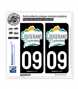 09 Saint-Girons - Agglo | Autocollant plaque immatriculation