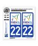 22 Fréhel - Ville| Autocollant plaque immatriculation