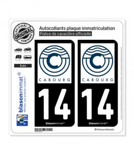 14 Cabourg - Ville | Autocollant plaque immatriculation