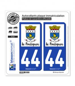 44 Le Pouliguen - Ville | Autocollant plaque immatriculation
