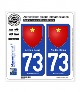 73 Aix-les-Bains - Armoiries | Autocollant et plaque immatriculation