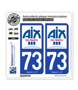 73 Aix-les-Bains - Ville | Autocollant et plaque immatriculation