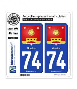 74 Morzine - Armoiries   Autocollant plaque immatriculation