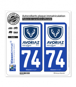 74 Avoriaz - Station   Autocollant plaque immatriculation