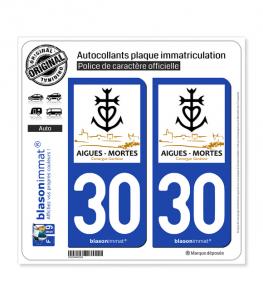 30 Aigues-Mortes - Ville | Autocollant plaque immatriculation