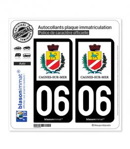 06 Cagnes-sur-Mer - Ville | Autocollant plaque immatriculation