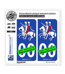 Cavaliers des Templiers | Autocollant plaque immatriculation