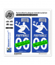 Footballeur - White | Autocollant plaque immatriculation
