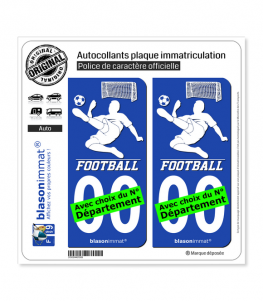 Footballeur - White | Autocollant plaque immatriculation