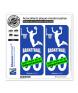 Basketteur - White | Autocollant plaque immatriculation
