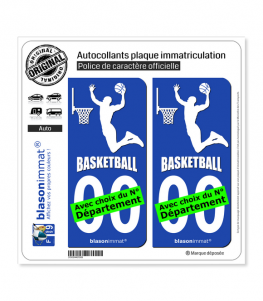 Basketteur - White | Autocollant plaque immatriculation