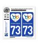 73 Brides-les-Bains - J'aime | Autocollant et plaque immatriculation