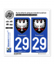 29 Fouesnant - Armoiries | Autocollant plaque immatriculation