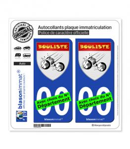 Bouliste - Blason | Autocollant plaque immatriculation