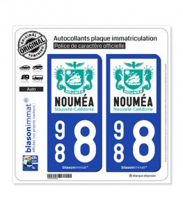 988 Nouméa - Ville | Autocollant plaque immatriculation