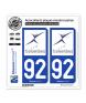 92 Colombes - Ville | Autocollant plaque immatriculation