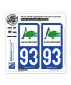 93 Aulnay-sous-Bois - Ville | Autocollant plaque immatriculation