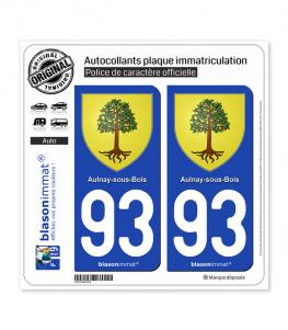 93 Aulnay-sous-Bois - Armoiries | Autocollant plaque immatriculation