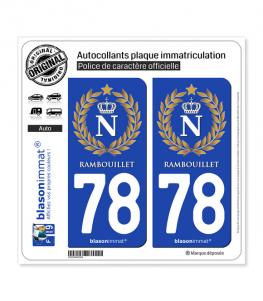 78 Rambouillet - Ville impériale | Autocollant plaque immatriculation