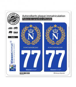 77 Fontainebleau - Ville impériale | Autocollant plaque immatriculation