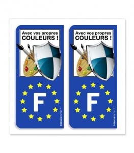 Côté Gauche personnalisé | Autocollant plaque immatriculation
