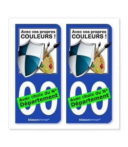 Côté Droite personnalisé | Autocollant plaque immatriculation