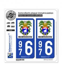 976 Mamoudzou - Armoiries | Autocollant plaque immatriculation