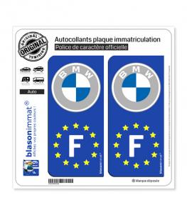 F BMW - Identifiant Européen | Autocollant plaque immatriculation