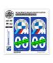 BMW - Motorsport White-Grey   Autocollant plaque immatriculation