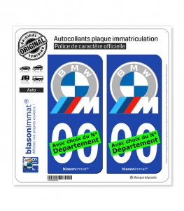 BMW - Motorsport White-Grey | Autocollant plaque immatriculation