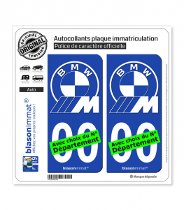 BMW - Motorsport White | Autocollant plaque immatriculation