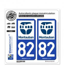 82 Montauban - Ville | Autocollant plaque immatriculation